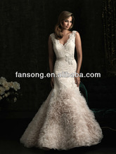 Stylish Sexy Embroidered Lace Applique Beading Belt For Wedding Dress 2014