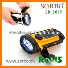 Solar Powered LED Work Light/Hand Crank Waterproof Flash Light