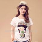 2013 Fashion custom printed 100% cotton t-shirt/women t-shirt