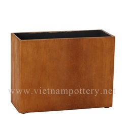 Vietnam Pottery Ceramic Poly Fiberstone Pot * P1-13-05