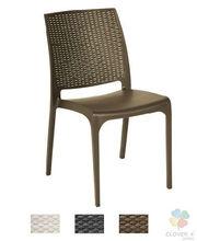 ACACIA Chair, chocolate, anthracite or white rattan