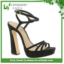 Beautiful High Heel Sandals Black Ankle Strap Platform Heels