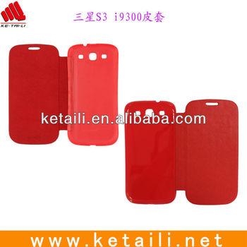 2013 China Custom PU Mobile Phone Cover for Samsung S3 i9300
