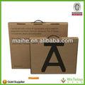 Caja de cartón corrugado de software/plegable de plástico corrugado caja reutilizable/corrugado de papel caja de embalaje