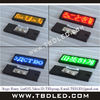 low weight wear clothes programmable led badge, name led display small sign