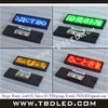 KTV or Club use Rechargeable Programmable led scrolling badge