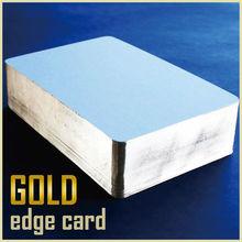 Oro brillante borde lateral para tarjetas de invitación de tipo de lujo