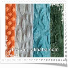 Flower Brushed Textile Fabrics/PV Plush Fabric