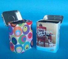 Rectangular metal cigar case with hinge lid, china manufacturer