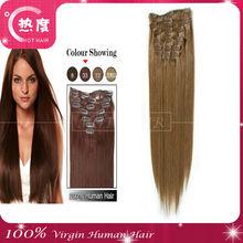 Cheap AAAAA human hair weave 100% virgin Combodian Clip in Hair Extension