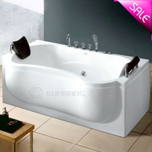 Hot sale corner mini standing removable bathtub drain installation