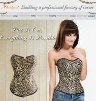 Young Girls Fashion Sexy Leopard Corset