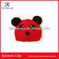personalizada de punto la tapa forma de oso panda de invierno de moda la tapa completa para damas y niñas niños