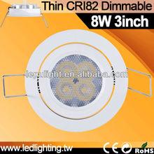 recessed led downlight VS halogen kitchen light