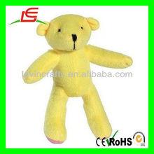 Le-d636 amarelo baratos de pelúcia ursos de pelúcia