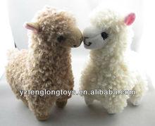 Stuffed Animal Kids Doll Creamy Plush Alpaca Toy