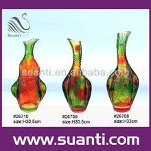 Polyresin tall cylinder vase