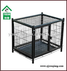 stainless steel pet cages for dog with plastic tray
