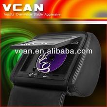 7 inch Headrest monitor DVD Divx MP4 USB SD player joystick