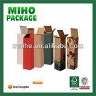 cheap wine pack carrier box/kraft paper wine pack carrier box/kraft wine packing carrier