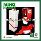 strong wine bottle paper carrier/small wine cardboard pack box/special paper wine pack box
