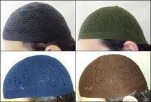 1 Pcs Turkish 100% Cotton Kufi koofi kofi Topi Embroidery Cap Hat Muslim Mens L