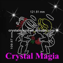2013 CMF-4308 kiss strass motif hotfix rhinestone design