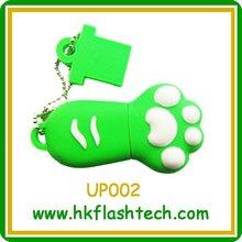 custom logo, promotional gifts, plastic green cat claw USB flash drive