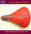 Xingtai oem couro vermelho selimdebicicleta, estrada bicicleta sela, acessórios da bicicleta