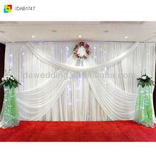IDA Chrismas luxury curtain frill decoration for wedding party theme event