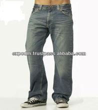 2013 manufacturer wholesale men new design denim jeans with fantasy sandblast whisker washing manufacturer fashion men jeans