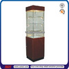 TSD-W4605 Wood Revolving Jewelry Vitrine/lockable glass display cabinets/glass door cabinet