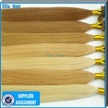 100% U-Tip Brazilian Remy Human Hair Extension Italian Keratin Bond Easy Remove