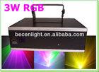 3W RGB Full color animation laser light 3000mW christmas laser lights