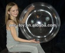 """36"""" 1 Color Crystal Clear Beach Ball"""