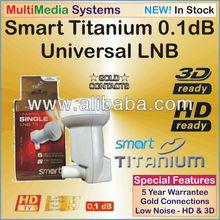 LNB Smart Titanium Universal Single LNB 1 Output 0.1dB