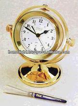 Brass Nautical Gymble Table Clock