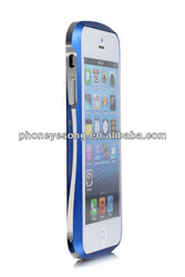 Newst! double color metal border matte back case for Iphone 5