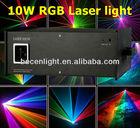 10W RGB Full Color Animation Laser Light ilda 10000mW laser stage lighting