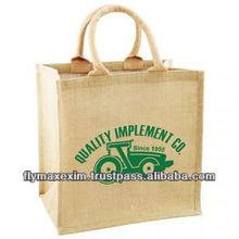 Supersized Jute Tote BagReusable foldable shopping bag Natural Jute Bags with Blue StripeBurlap or Jute Tote Bags