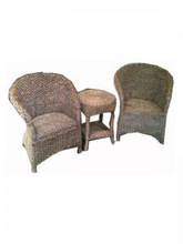 SET OF 3 CHAIRS AND TABLE HYACINTH