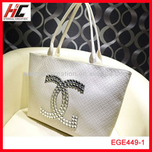 New arrival 2014 pu ladies' tote bag for shopping