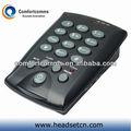 Alta qualidade de call center simples dialpad telefone headset com fone de ouvido cht-800
