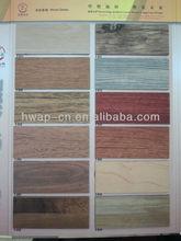 Comfortable Glue Tile Plastic PVC Flooring Wood Look