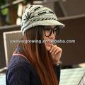 2014 de alta calidad de punto sombrero muilt singular color tapa de pico de hecho a mano de lana sombreros