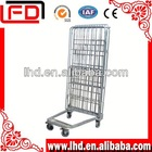 Collapsible Galvanized Wire Mesh Roll Cage Metal Storage