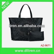 punk style rivet ladies wallet and handbags china price