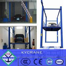 simple valet mechanical hydraulic stacker parking car lift,sharing column portable garage