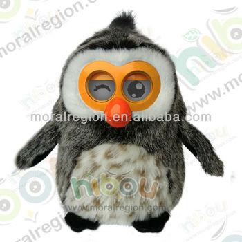 unique designed multi-language talking toy,children's good partner--Hibou OWL