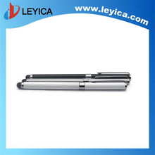 Silver, white and black 2-in-1 stylus touch pen writing ball pen - LY-S06